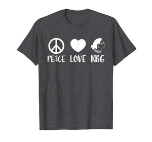 Ruth Bader Ginsburg T-Shirt Peace Love RBG Peace Sign Gifts