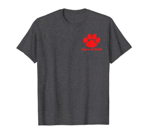 Class of 2026 Red Tiger Paw Print Shirt