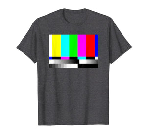 TV Static And Color Bar T-Shirt TV Error 80's Vintage Tee