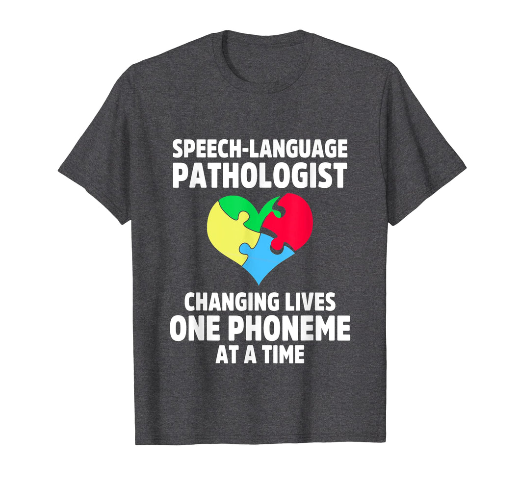 Speech Pathology Therapy Lives Autism Awareness Month TShirt