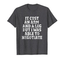 Load image into Gallery viewer, Amputee T-Shirt: Able To Negotiate Funny Leg Amputee Shirt