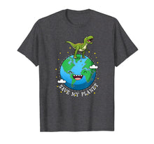 Load image into Gallery viewer, Happy Earth Day 2019 Dinosaur T-Rex Kids Boy Save My Planet  T-Shirt