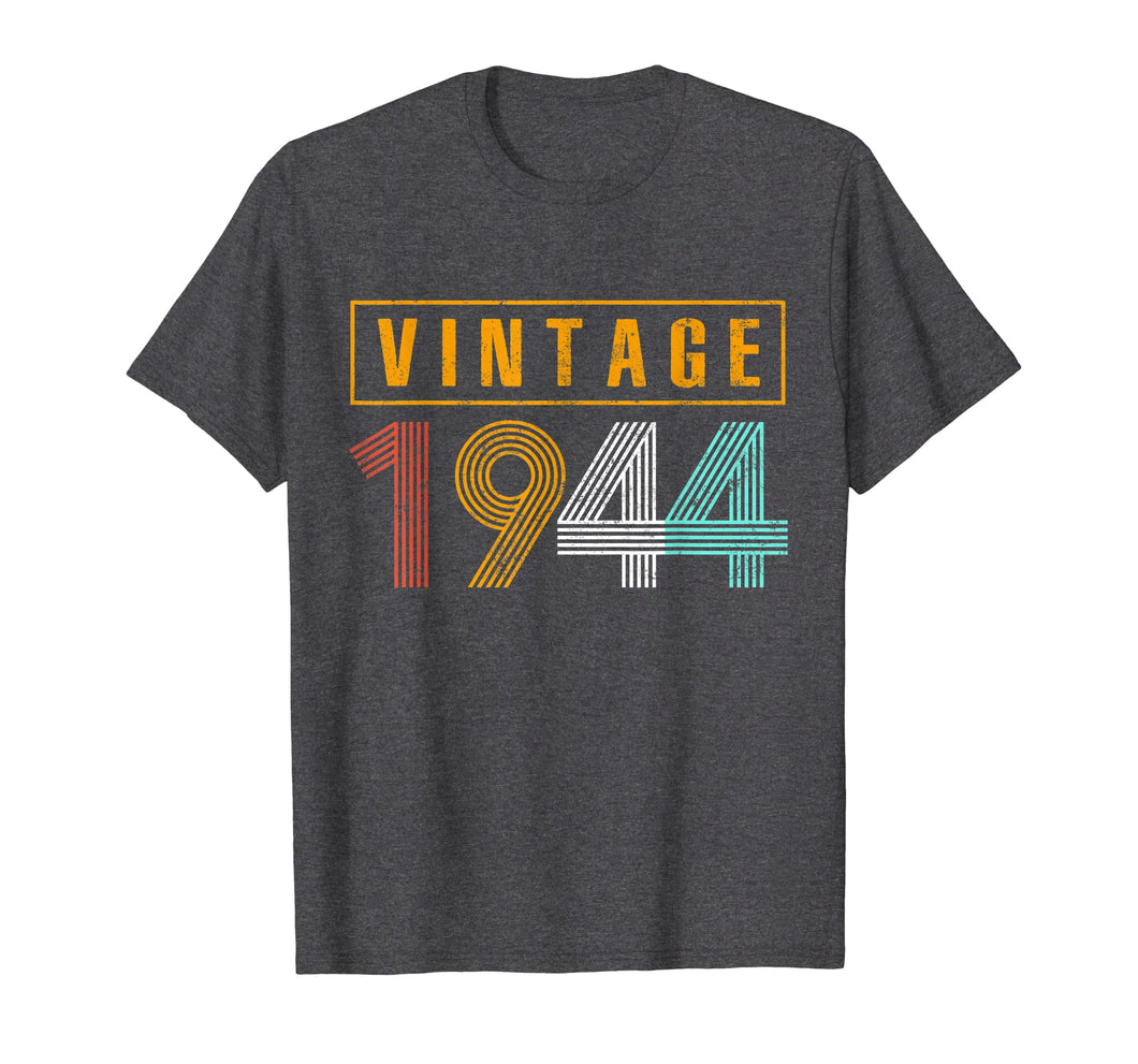 75 Years Old 1944 Vintage 75th Birthday T Shirt Decorations