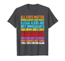 Load image into Gallery viewer, All Lives Matter Women Already Have Right Rights Shirt