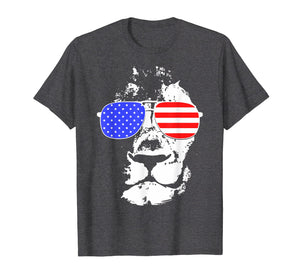 Tee Shirts Eyes Catching Lion American Flag