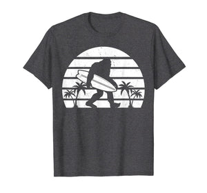 Bigfoot Surfing Shirt Sasquatch Tshirt Surf Board Gift Tee