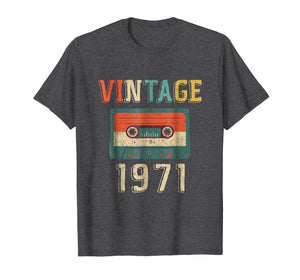 48th Birthday Gift Vintage 1971 48 Years Old Mixtape T-Shirt
