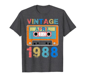April 1988 Vintage 31st Birthday Gifts T-shirt Decoration