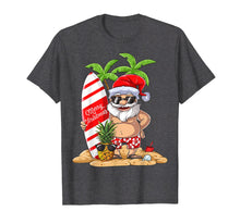Load image into Gallery viewer, Christmas in July Santa Hawaiian Surfing T Shirt Summer Surf