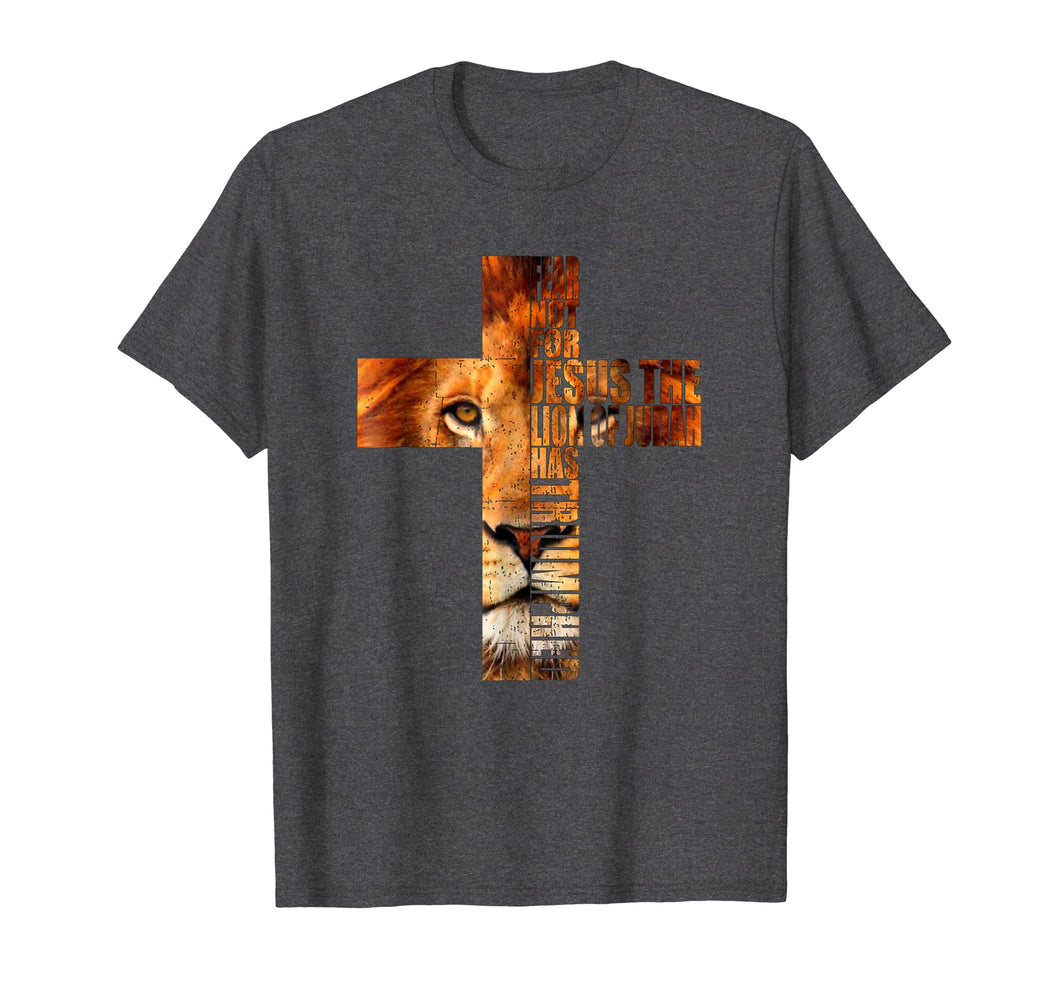 Christian Religious TShirt Jesus The Lion Of Judah Cross