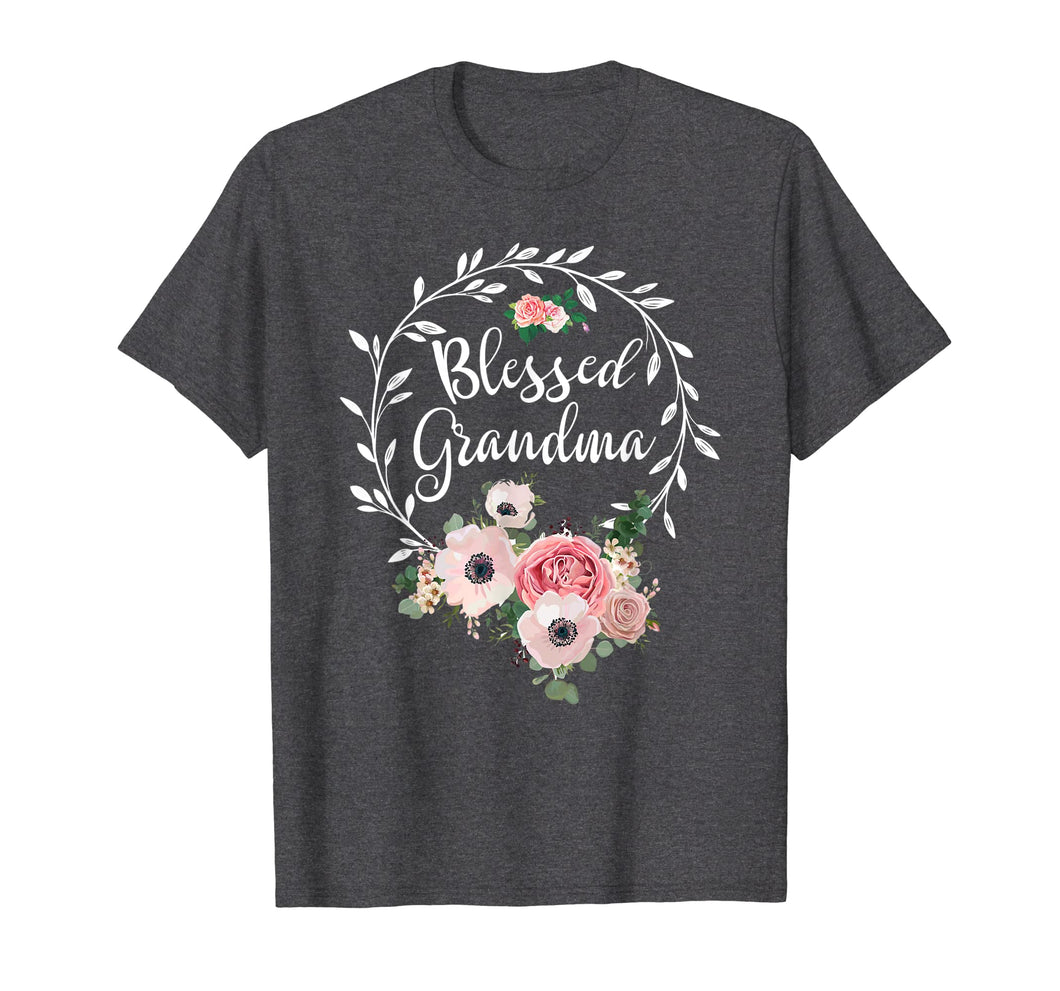 Blessed Grandma T-Shirt with floral, heart Mother's Day Gift