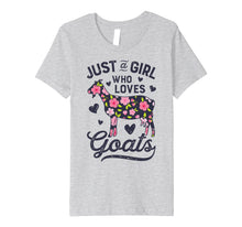 Load image into Gallery viewer, Just a Girl who Loves Goats T shirt Goat Farmer Farm Women