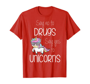 Kids Say No Say Yes To Unicorns Youth Red Ribbon Week T-Shirt