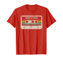 Load image into Gallery viewer, Vintage Best of 1974 45th Birthday Cassette T-Shirt