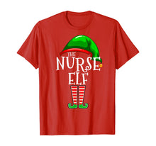Load image into Gallery viewer, The Nurse Elf Family Matching Group Christmas Gift Funny  T-Shirt