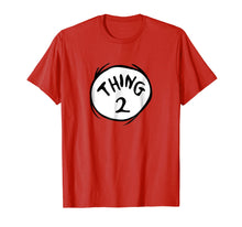 Load image into Gallery viewer, Dr. Seuss Thing 2 Emblem RED T-shirt