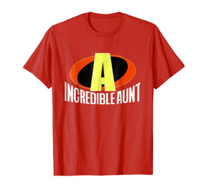 The Incredible Aunt Superhero T-Shirt for Women (Bold Text)