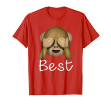 Load image into Gallery viewer, Best Friends Forever T-Shirt For 3 Monkey Emoji #1