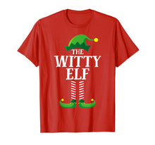 Load image into Gallery viewer, Witty Elf Matching Family Group Christmas Party Pajama T-Shirt