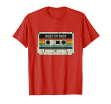 Load image into Gallery viewer, Vintage Best of 1969 50th Birthday Cassette Tee for men gift T-Shirt