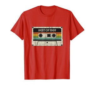 Vintage Best of 1969 50th Birthday Cassette Tee for men gift T-Shirt