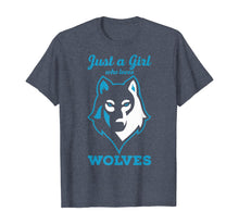 Load image into Gallery viewer, Wolves Tshirt - Just a Girl who Loves Wolves T-Shirt
