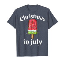 Load image into Gallery viewer, Christmas In July Shirt Ice cream Christmas Tree Summer Gift T-Shirt