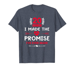 Cool 20th Wedding Anniversary Gift for Husband Wife T-Shirt