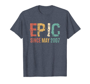 Epic Since May 2007 12th Bday 12 Year Old Tshirt Gift