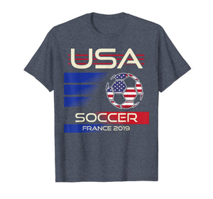 Soccer 2019 USA Womens Tshirt | France tournament shirt