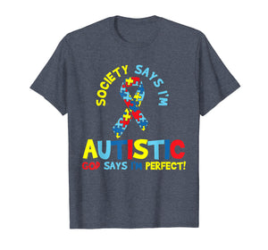 Autism Awareness T Shirt Puzzle Ribbon Gift Autistic Tshirt