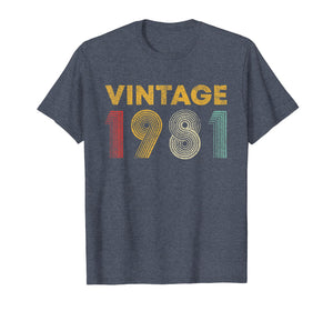 38th Birthday Gift Idea Vintage 1981 T-Shirt Men Women