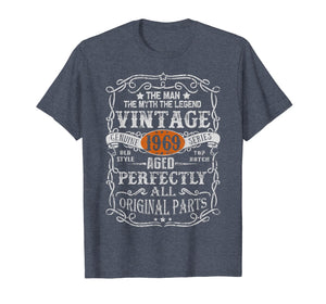 50 Years Old 1969 Vintage 50th Bday Gift Shirt Decorations