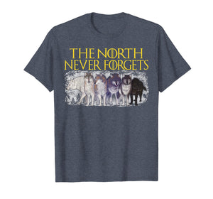 Direwolves The North Never Forgets T-shirt Funny Dire Wolf