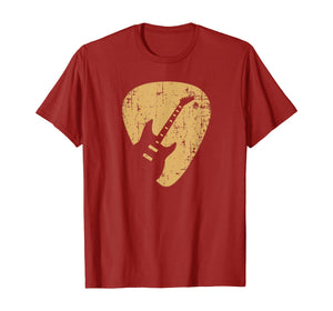 Vintage Guitar Pick New Gifts Guitarist Love Music T-Shirt