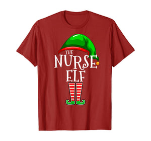 The Nurse Elf Family Matching Group Christmas Gift Funny  T-Shirt