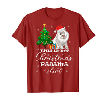 Load image into Gallery viewer, This is my Christmas Pajama Samoyed Costume Santa Hat gift T-Shirt