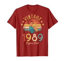 Load image into Gallery viewer, Vintage 1989 Made in 1989 30th birthday 30 years old Gift T-Shirt