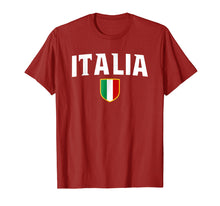 Load image into Gallery viewer, Italia T-Shirt Italy Patriotic Scudetto Flag Emblem Crest