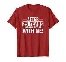 Load image into Gallery viewer, 25th Anniversary T-Shirt 25 Years Marriage Husband Gift