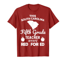 Load image into Gallery viewer, Red For Ed Shirt SC South Carolina FIFTH Grade Teacher