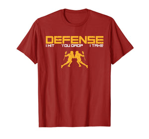 Defense Defender Stick Lacrosse Player Sports Graphic Shirt
