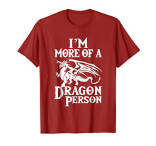 Load image into Gallery viewer, More of a Dragon Person T-Shirt. Role Play RPG Board Game