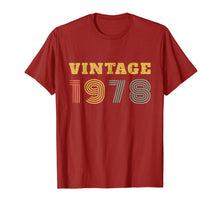 Load image into Gallery viewer, 41st Birthday Gift Vintage 1978 Year T-Shirt