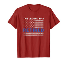 Load image into Gallery viewer, The Legend Has Retired Police Officer Retirement Gift Shirt