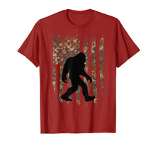 Load image into Gallery viewer, Bigfoot I Believe Sasquatch Patriot T-shirt American Flag