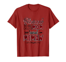 Load image into Gallery viewer, Blessed To Be Called Mom And Memaw Shirt Funny Memaw Gift