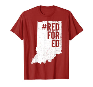 Vintage Red For Ed Shirt Indiana State Teacher RedforEd T-Shirt