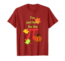 Load image into Gallery viewer, I'm Just Here For The Pumpkin Pi Math Festive Holiday  T-Shirt