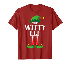 Witty Elf Matching Family Group Christmas Party Pajama T-Shirt